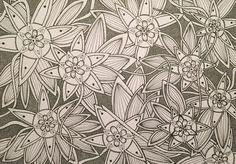 Flowers zentangle