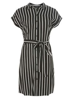 Black and Ivory Shirtdress - View All Dresses - Dresses - Dorothy Perkins