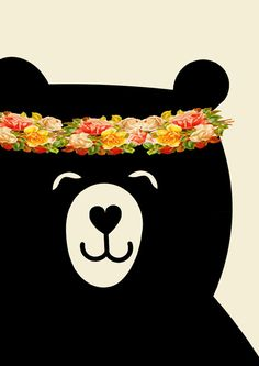 FLOWER BEAR POSTER Little one You are so loved by LetuvePosters