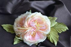 """Купить Староанглйская роза """"Жозефина"""" - бледно-розовый, роза из шелка, роза из…"""