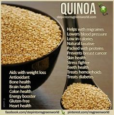 Quinoa has been considered as a crop for NASAs Controlled Ecological Life Support System due to its high protein values and unique amino acid composition. Love this stuff Colon Health, Teeth Health, Bone Health, Quinoa Health Benefits, Health And Nutrition, Healthy Tips, Healthy Recipes, Healthy Detox, Healthy Food
