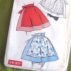 Vintage 1950s Apron Pattern  Advance 8840  Misses' by SelvedgeShop