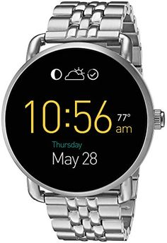 Introducing our slimmest smartwatch to date: Q Wander is our newest digital display watch that connects seamlessly to your phone. Strapped in polished silver stainless steel the tech-savvy dial with ... Fossil Q Wander, Smartwatch, Fossil Watches For Men, Cool Watches, Women's Watches, Latest Watches, Silver Watches, Luxury Watches, Jewelry Watches