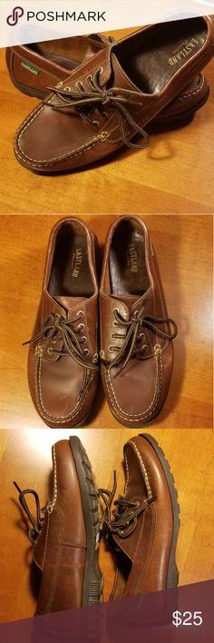 76b37c56021fa Eastland Leather Boat Shoes 3135 size 10m Barely worn Eastland 3135 unisex  brown leather boat shoes