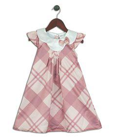 Joe-Ella Crème & Rose Plaid Swing Dress - Infant, Toddler & Girls by  #zulily #zulilyfinds