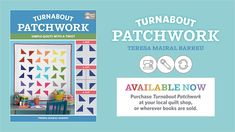 """Check out these 2 shortcuts. One of them makes four 3 patch quarter square triangle at once. The other one makes two quilt blocks Order my book Turnabout Patchwork """"Turnabout Patchwor… 4 Patch Quilt, Star Quilt Blocks, Star Quilt Patterns, Star Quilts, Easy Quilts, Block Patterns, Pattern Blocks, Quilting For Beginners, Quilting Tutorials"""