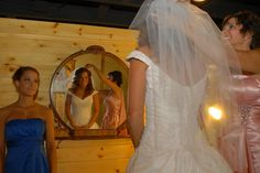 Photography idea - take pictures getting ready in a big mirror!