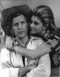 Martin Lantigua y Adita Riera en la telenovela Venezolana de los años 70s La Loba, realizada por Venevision.