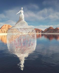 Chad Knight is a artist creating mind-bending digital art. His unique approach to digital sculptures fascinates people all over the internet. I think I became an artist at conception, Chad told the Klassik Magazine. Illusion Kunst, Illusion Art, Water Sculpture, Sculpture Art, Unusual Art, Unique Art, Art Visionnaire, Geometric Sculpture, Knight Art