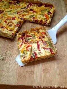 Tarte aux trois poivrons et au chorizo - Three peppers and chorizo pie