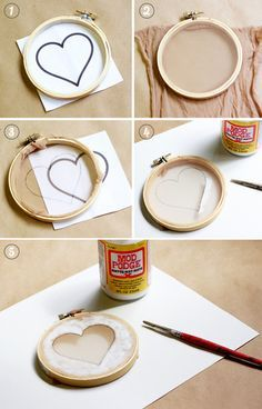 こちらは絵柄を直接モッドポッジで描いてシルクスクリーンにする方法です。簡単な形であれば、図案の紙を使わなくてもきれいにプリントできます。