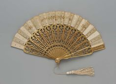 Fan, 1860, Made of silk and gilded wood