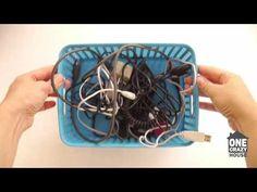 L'astuce pour ranger les câbles électriques et informatiques