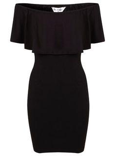 Kleid im Bardot-Stil mit Rüschen