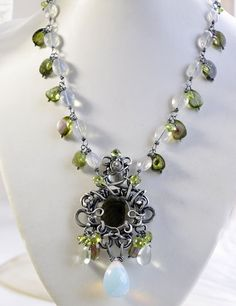 One of my favorite pieces by this jewelry artist. The EDEN UNDER MOONLIGHT Necklace.