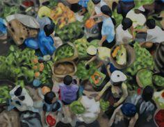 Eva Činčalová : I like life. 2011 Oil on canvas 110 × 140 cm