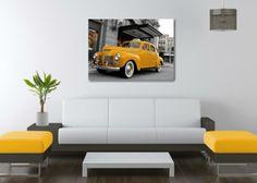 Quadro Checker Taxi Old Style, prodotto stampato in digitale ad alta definizione su tela, rifinita con telaio in legno.