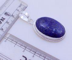 free shipping Ms-6 Stunning Lapis Lazuli .925 Silver Handmade Pendant Jewelry 14 Gr. by SILVERHUT on Etsy
