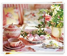 Beautiful time for tea with English china