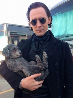 """""""@IMBd: """"Our make-up designer Jordan Samuel's dog Charlie, our mascot for the film."""" - TH @twhiddleston #IMDbAskCrimsonPeak"""" https://twitter.com/IMDb/status/649631636686897152"""