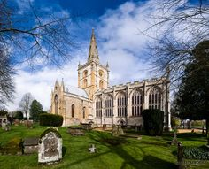 The Holy Trinity Church in Stratford-upon-Avon, England, resting place of William Shakespeare.