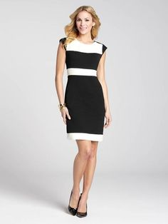 The colour block trend is an easy and fabulous way to inject a little fun into your day dresses. And that sleek