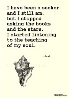I Have Been A Seeker-Rumi Quote