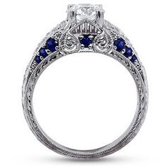 I LOVE the sapphires in the side!!! #BrilliantEarth