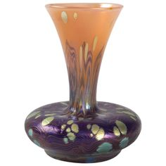 Austrian Art Nouveau Iridescent Loetz Vase | From a unique collection of antique and modern vases at http://www.1stdibs.com/furniture/dining-entertaining/vases/