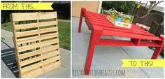 Restoration Beauty: Making An Outdoor Table From A Pallet