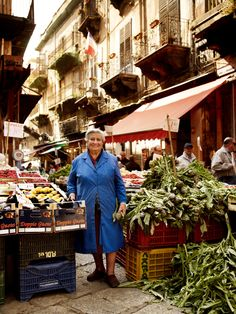 A lady at a market in Palermo, Sicily. Photo by Andrew Montgomery.