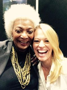 Nichelle Nichols and Jeri Ryan, aka Uhura and Seven of Nine.