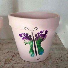 Butterfly flower pots