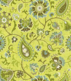 Home Decor Print Fabric- Waverly Siren Song Spa