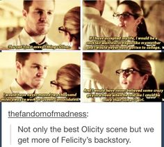 "Can't freaking wait for the new episode of season 3 ""The origin of Felicity Smoak"". Supergirl Dc, Supergirl And Flash, Oliver And Felicity, Arrow Felicity, Felicity Smoak, The Flash, Arrow Memes, Arrow Tv Series, Dc World"
