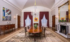 Michelle Obama reveals newly decorated White House dining room