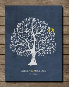 Items similar to Wedding Gift for Couples Gift for Her Him, Personalized Anniversary Gift Engagement Newlywed Love Birds Wedding Family Tree Art Print - on Etsy Wedding Gifts For Bride And Groom, Wedding Gifts For Parents, Bride Gifts, Personalized Thank You Gifts, Personalised Family Tree, Grandparents Christmas Gifts, Family Christmas Gifts, Xmas Gifts, Anniversary Gifts For Husband
