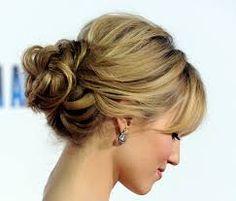 Resultado de imagen para peinados recogidos con flequillo para fiesta de noche