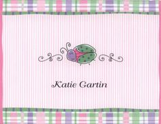 Ladybug Personalized Note Card ($9 for 10)