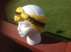 Yellow and black Steelers sports school colors by RubyHeartCrafts