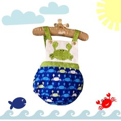 $20 Romper Bubble, Nautical Romper with Blue, Green and White Accents, Sunsuit , Unisex