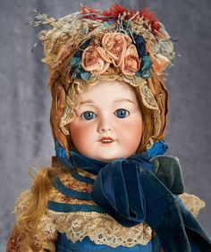 """29"""" French Bisque Child in Fine Antique Costume, Model 301, by SFBJ 700/900"""