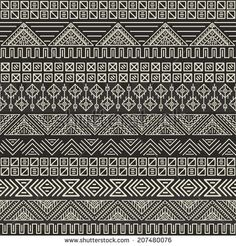 Find Seamless Tribal Texture stock images in HD and millions of other royalty-free stock photos, illustrations and vectors in the Shutterstock collection. Ikat Pattern, Border Pattern, Pattern Art, Mandala Drawing, Mandala Art, Doodle Patterns, Print Patterns, Tribal Background, Tribal Images