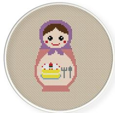Instant download,free shipping,Cross stitch pattern, Cross-StitchPDF,Russian Doll ,Matryoshka Babushkas,zxxc0122