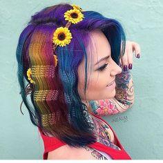 WEBSTA @ pulpriothair - Festival Hair.@nealmhair is the artist... Pulp Riot is the paint.