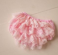 Pink Ruffle Diaper Cover Size 3-9 months READY TO SHIP on Etsy, $9.99