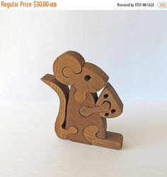 Sale Vintage Wooden Puzzle - Mouse Puzzle - Educational Toys - Vintage Children's Toy - Handmade Jigsaw Puzzle - Christmas Gift by aVintageCollective on Etsy https://www.etsy.com/listing/257691276/sale-vintage-wooden-puzzle-mouse-puzzle