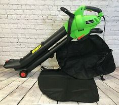 Leaf Blower Mulcher and Vacuum 3000 Watt Electric Garden Vac with 2 Bags Hoover Vacuum, Vacuum Bags, Leaf Blower, Grasses, Retail Packaging, Outdoor Power Equipment, Cushion, Handle, The Unit