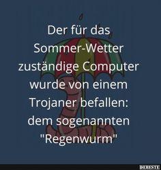 Der für das Sommer-Wetter zuständige Computer.. | Lustige Bilder, Sprüche, Witze, echt lustig
