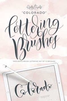 The Colorado brush pack for Procreate is the first in my collections of brushes that I've made to make beautiful lettering projects using the iPad Pro. I have included 10 different Procreate Brushes in this pack so you, too can install them in your Procreate app on your iPad. Create gorgeous, realistic brush lettering with these custom brushes.